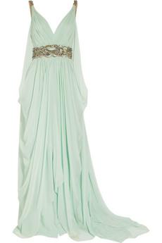 Marchesa|Crystal-embellished silk-chiffon gown|NET-A-PORTER.COM