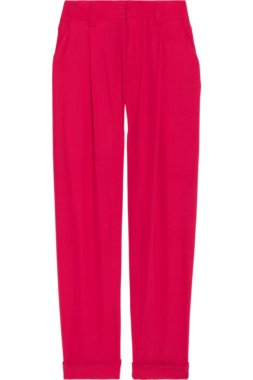 Alice + Olivia Arthur silk-blend crepe tapered pants