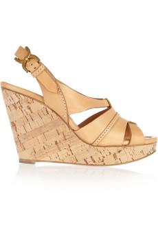 Chloé|Leather wedge sandals |NET-A-PORTER.COM from net-a-porter.com