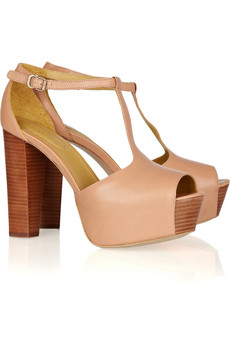 See by Chloé | Leather and wood sandals | NET-A-PORTER.COM