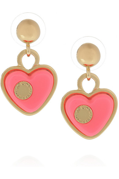 Marc By Jacobs Heart Br And Acetate Earrings