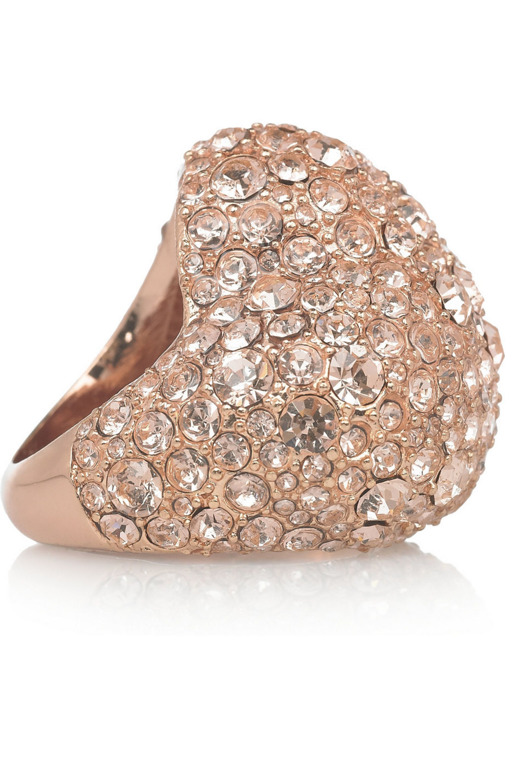 Marc by Marc Jacobs Heart pavé crystal ring