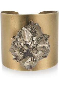 Kelly Wearstler|Pyrite cluster cuff|NET-A-PORTER.COM from net-a-porter.com