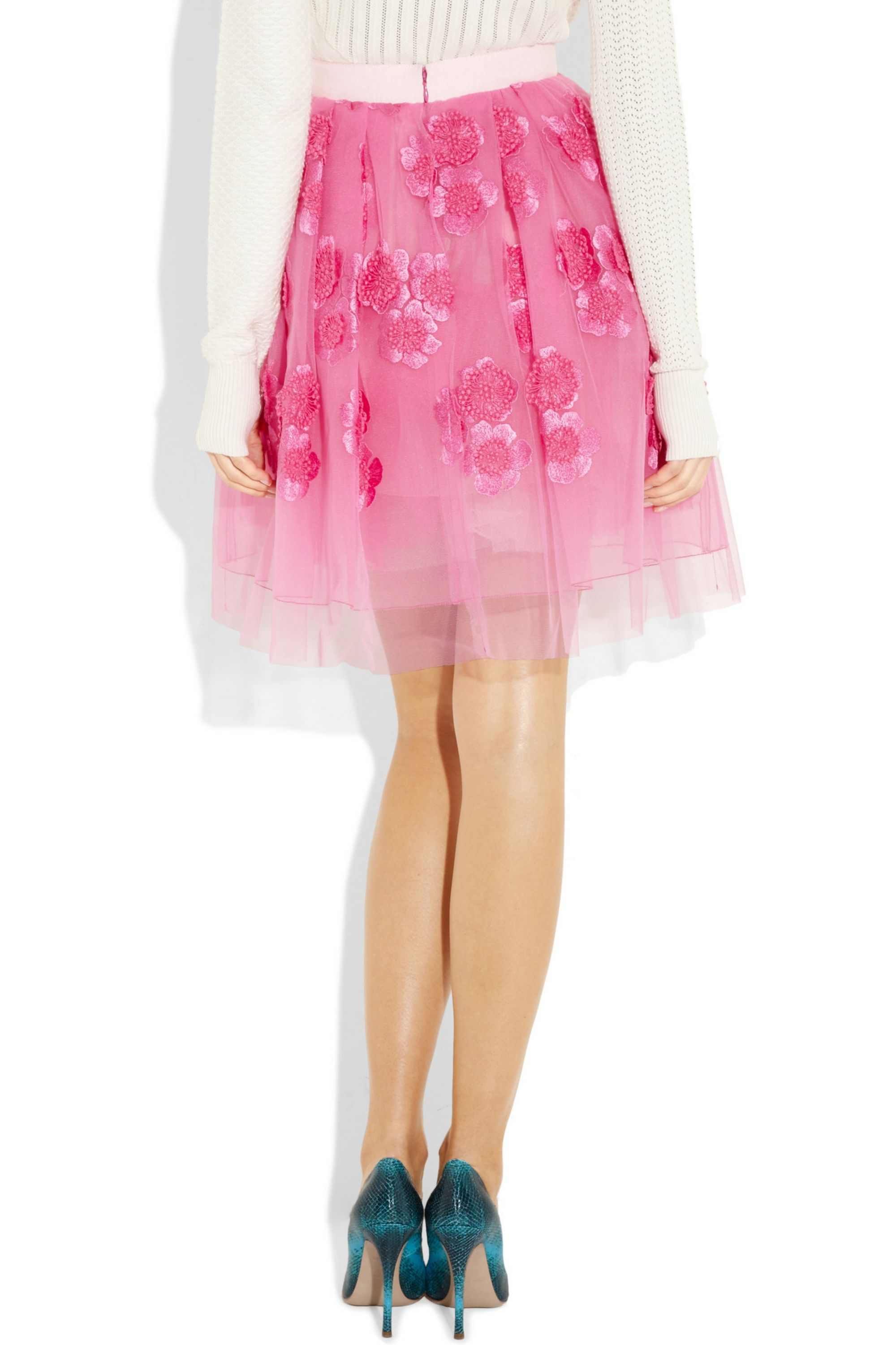 Runway Marc Jacobs Embroidered tulle mini skirt