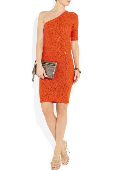 8fd84888e8 Stella McCartney. Sequined cotton-blend sweater dress