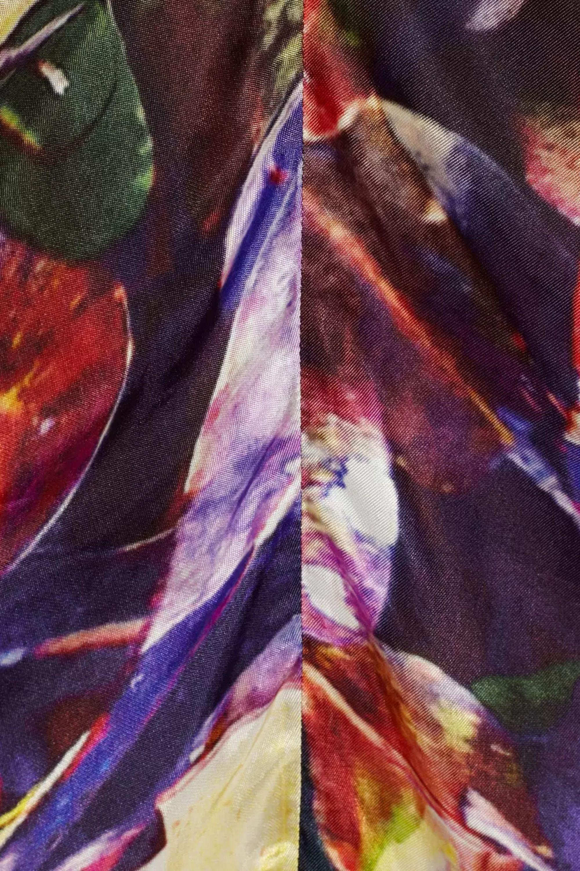 Zero+MariaCornejo Kou printed satin-twill dress
