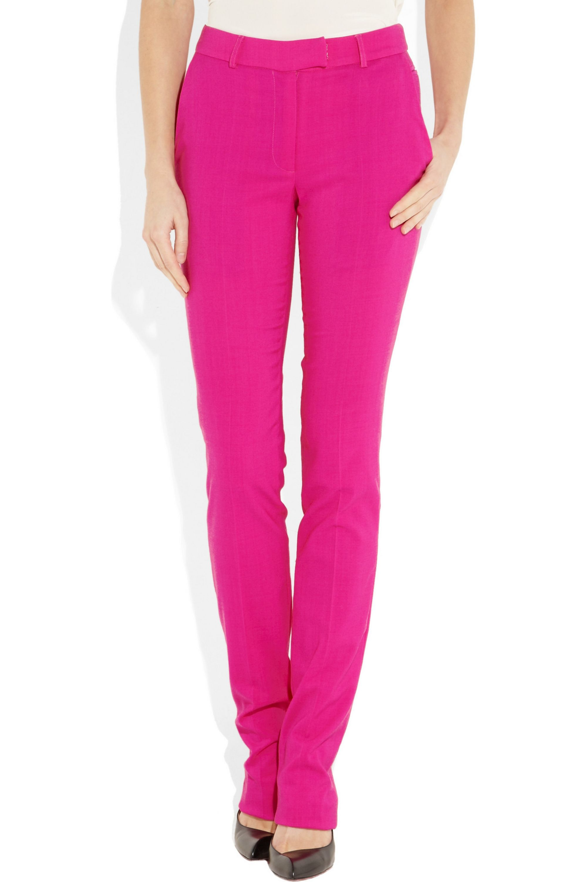 Preen by Thornton Bregazzi Razor wool-blend straight-leg pants