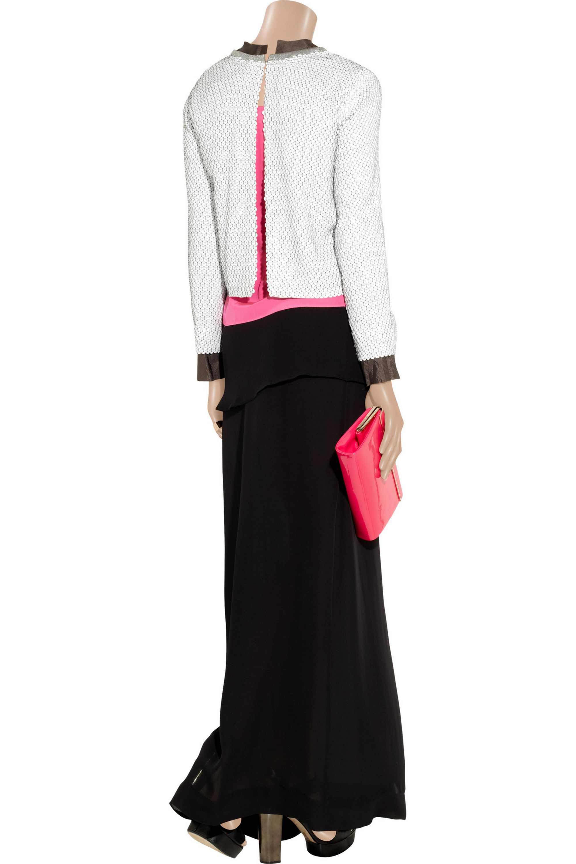 Diane von Furstenberg Hanka sequined silk-chiffon top