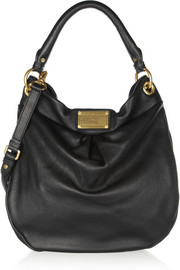 Marc by Marc Jacobs The Classic Q Hillier Hobo textured-leather shoulder bag