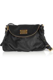Classic Q Natasha textured-leather shoulder bag