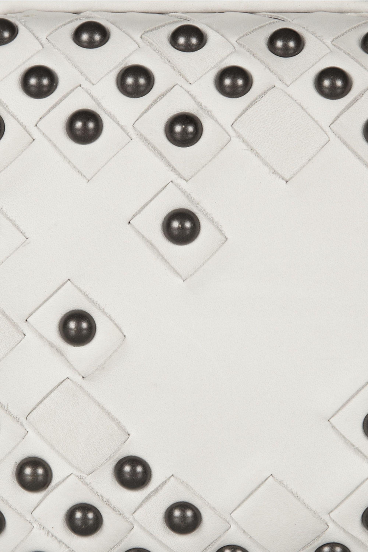 Bottega Veneta Studded intrecciato leather knot clutch