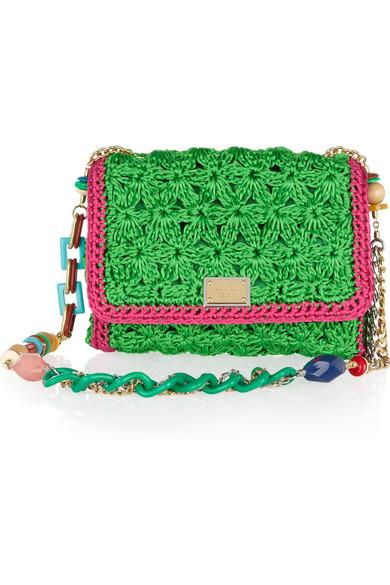 Dolce   Gabbana   Crocheted shoulder bag   NET-A-PORTER.COM d69f149ca1
