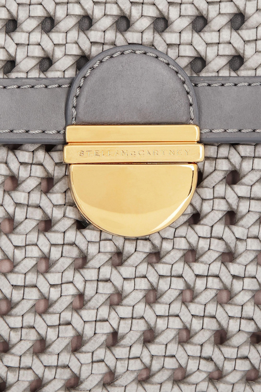 Stella McCartney Woven faux leather clutch