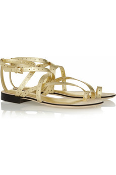 Emilio Pucci | Metallic leather sandals | NET-A-PORTER.COM