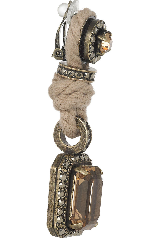 Lanvin Swarovski crystal clip earrings