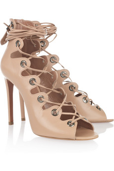 Alaïa | Leather lace-up sandals | NET-A-PORTER.COM