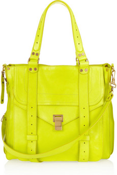 Proenza Schouler | PS1 neon leather tote | NET-A-PORTER.COM