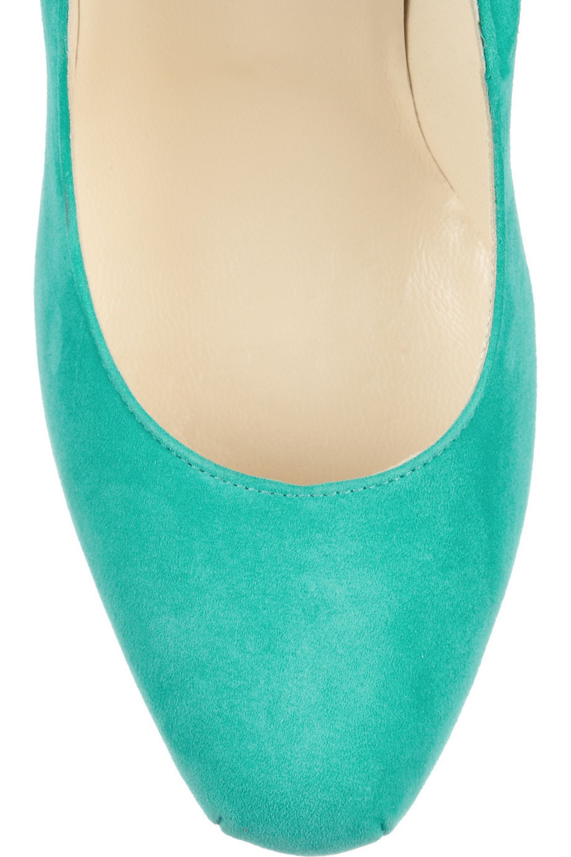 Brian Atwood Claudia embroidered suede pumps
