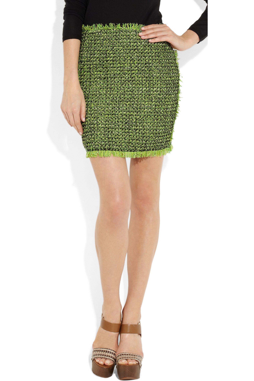 Lanvin Neon tweed mini skirt