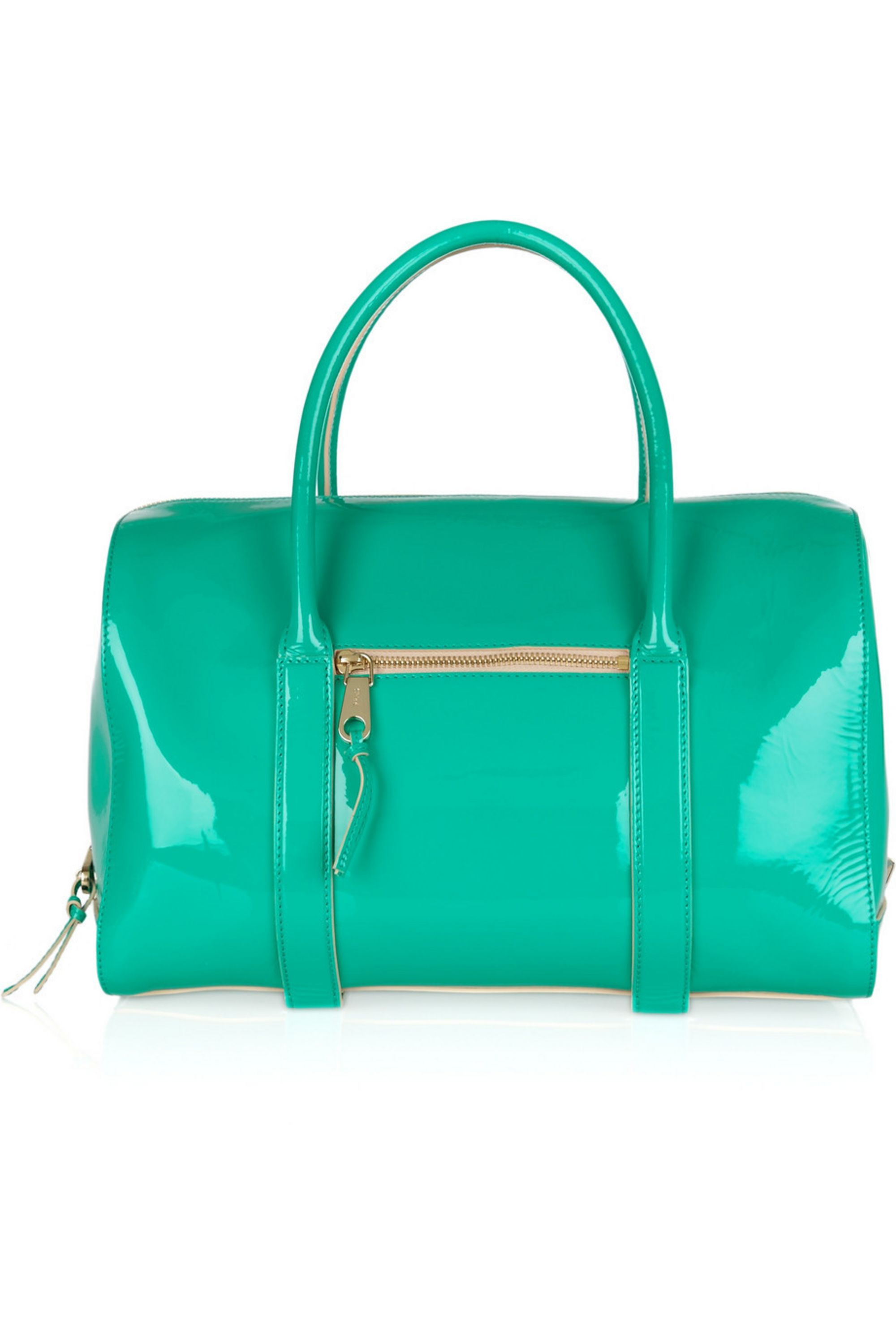 Chloé Madeleine patent-leather duffle bag