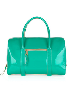 Chloé | Madeleine patent-leather duffle bag | NET-A-PORTER.COM