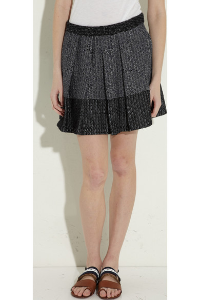 proenza schouler baja pleated tweed mini skirt net a