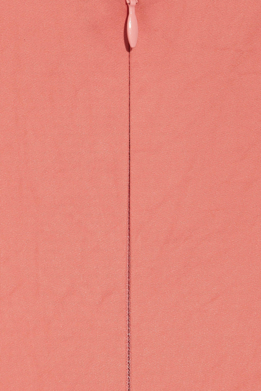 Zac Posen Stretch satin-crepe fishtail gown