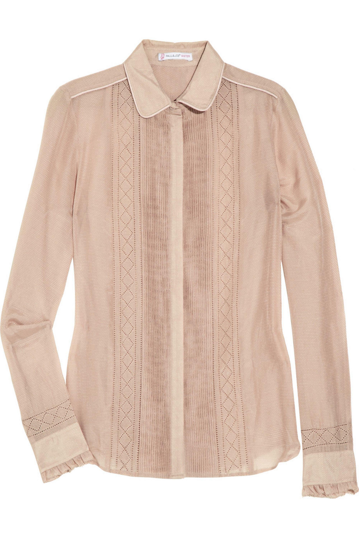 Paul & Joe Sister Joris cotton and silk-blend shirt