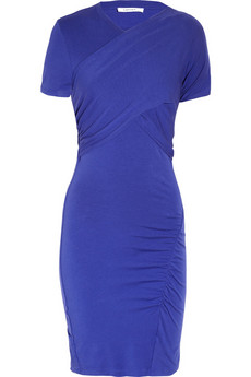 Carven | Ruched wrap-effect stretch-cotton dress | NET-A-PORTER.COM