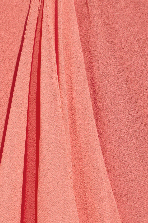Halston Waterfall silk-chiffon dress
