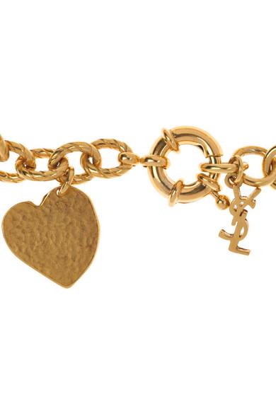 3f79f8f7041 Yves Saint Laurent   Ycons gold-plated charm bracelet   NET-A-PORTER.COM