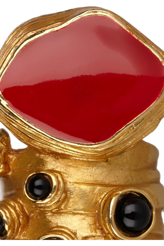 Yves Saint Laurent Arty gold-plated enamel ring