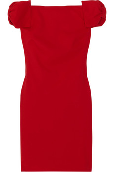 Valentino | Off-the-shoulder wool-blend crepe dress | NET-A-PORTER.COM