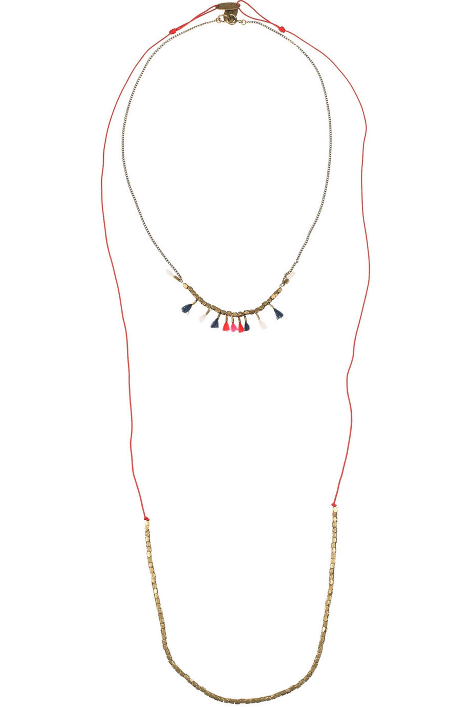 Isabel Marant The Who & Simple Me set of two brass necklaces