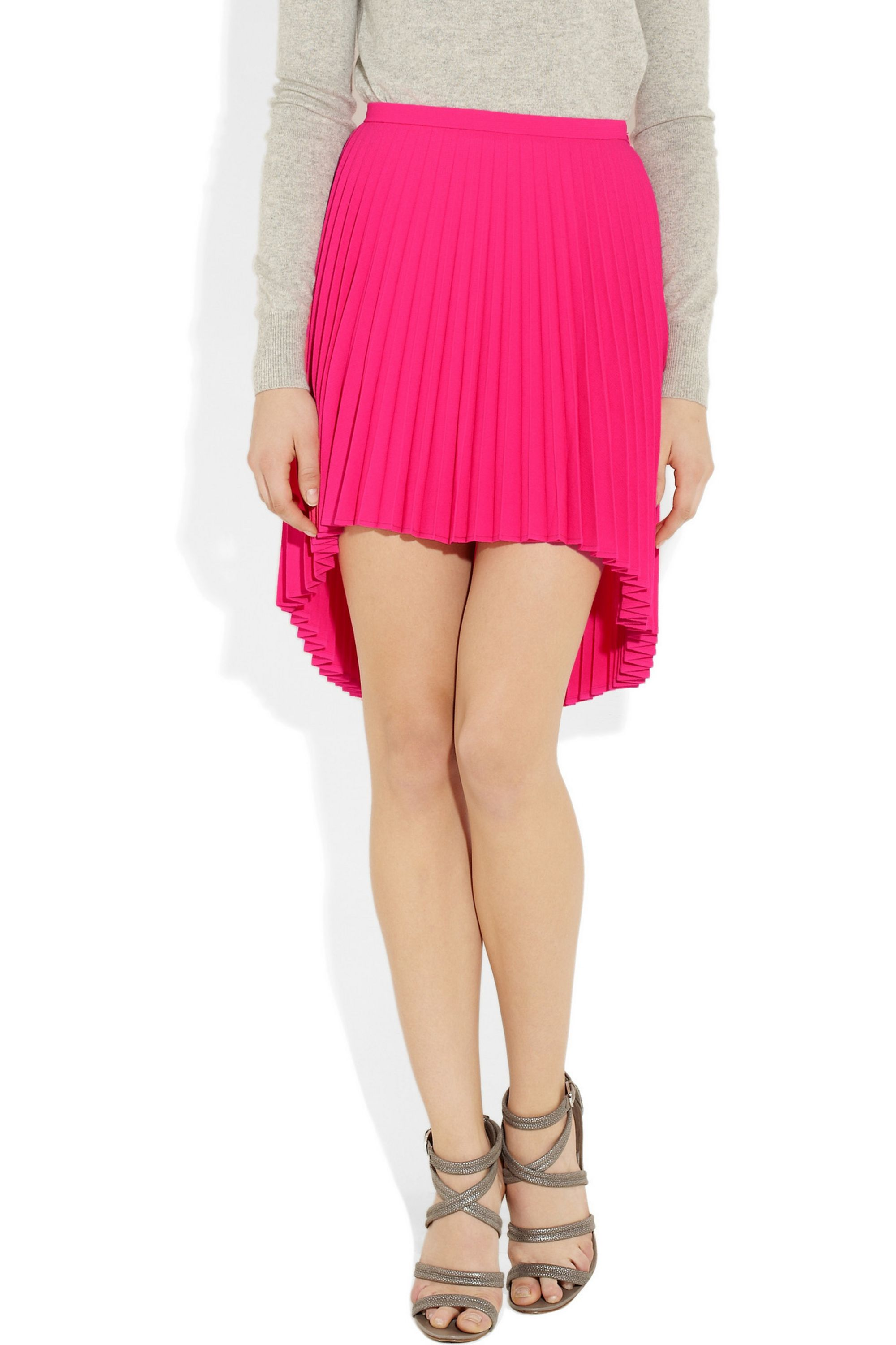 Christopher Kane Pleated stretch wool-crepe skirt
