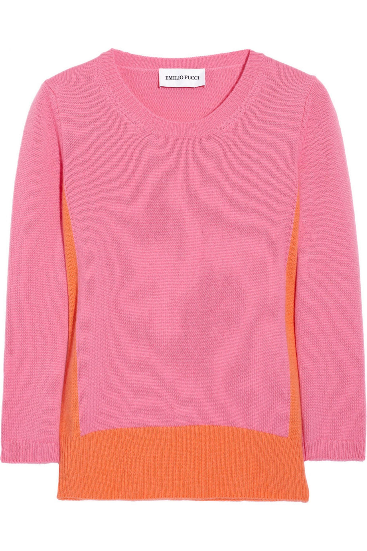 Emilio Pucci Color-block cashmere sweater