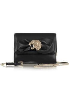 Valentino | Mini Panther leather clutch | NET-A-PORTER.COM