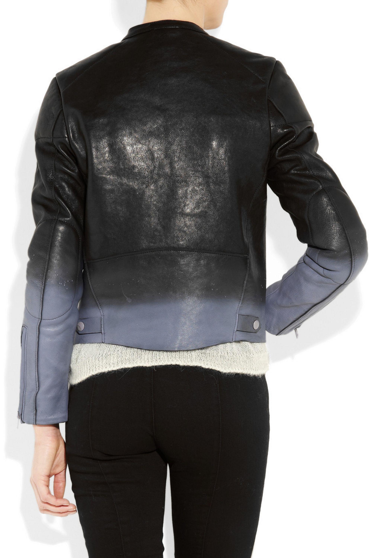 Acne Studios Macy ombré leather biker jacket