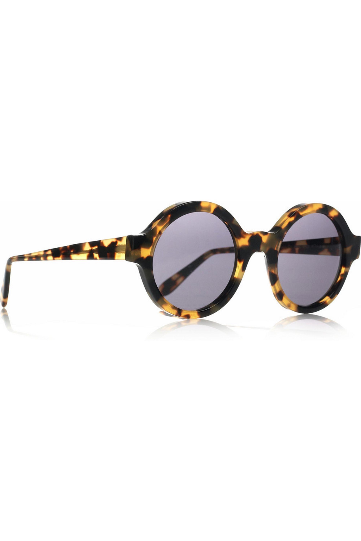 Illesteva Frieda round-frame acetate sunglasses