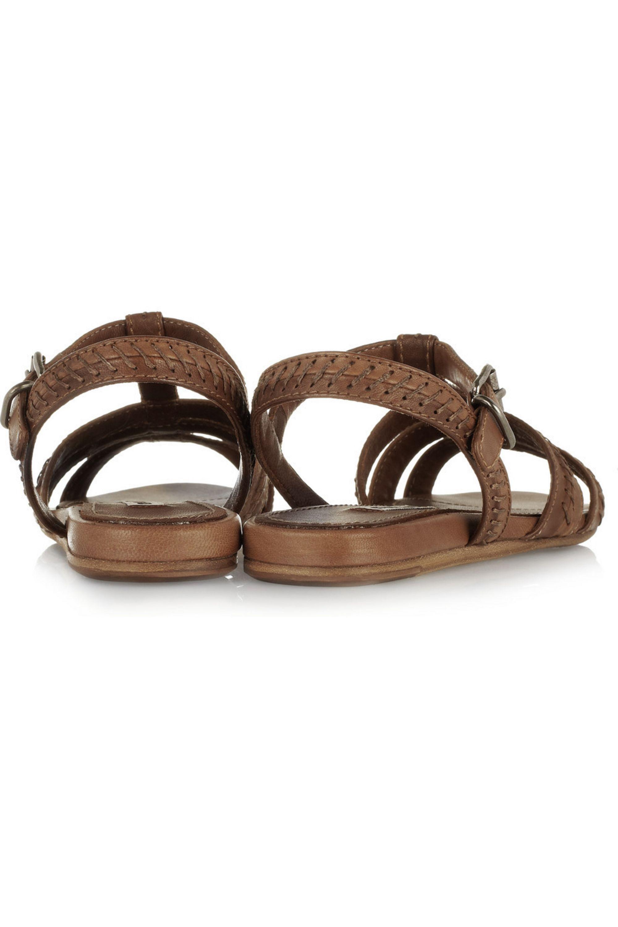 Miu Miu Stitch-detailed leather sandals