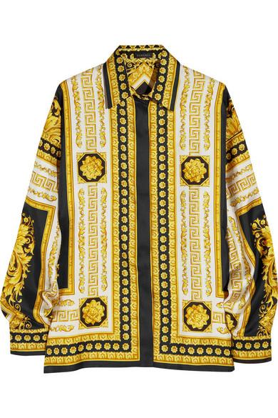 2d14bbc4fcd8e9 Versace. Venetian print silk shirt