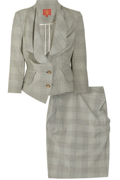 e3408b4fe7 Vivienne Westwood Red Label | Checked wool-blend skirt suit | NET-A ...