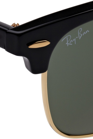 ray ban clubmaster half frame acetate sunglasses  ray ban. clubmaster half frame acetate sunglasses. $145. zoom in