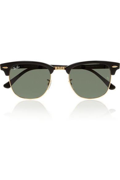 ray ban clubmaster half frame acetate sunglasses  ray ban. clubmaster half frame acetate sunglasses