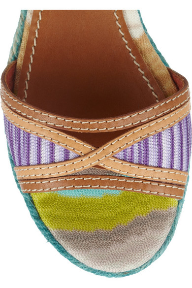 4e36d957a1c Missoni. Leather and crochet-knit platform sandals.  235.50. Zoom In