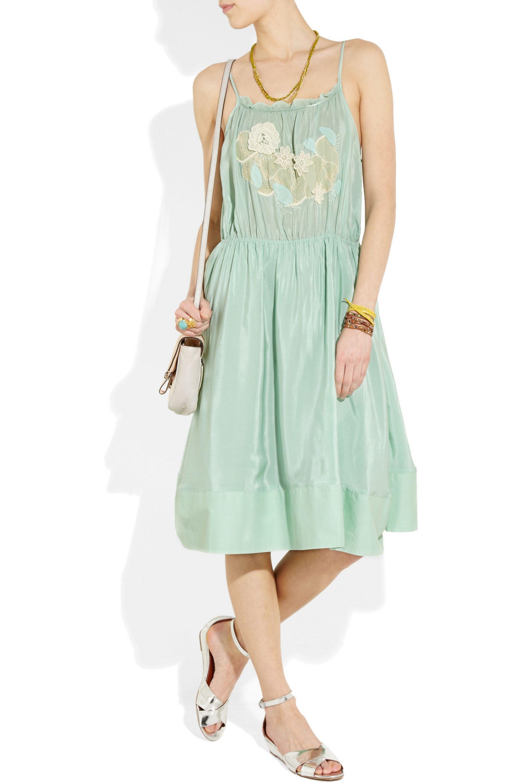 Vanessa Bruno Athé Silk crepe de chine dress