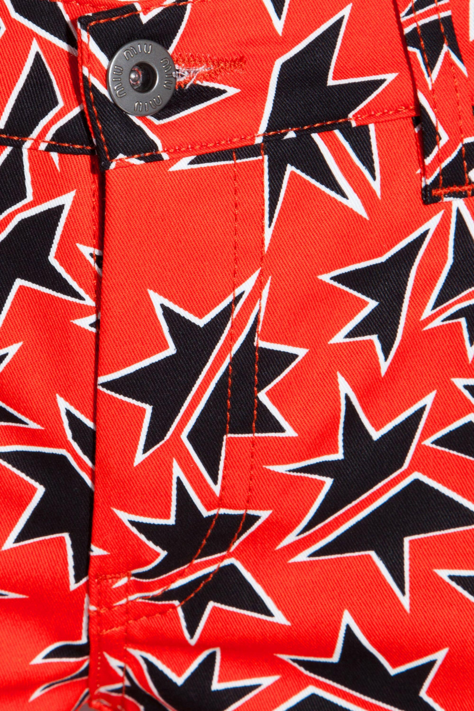 Miu Miu Star-print cropped low-rise skinny jeans