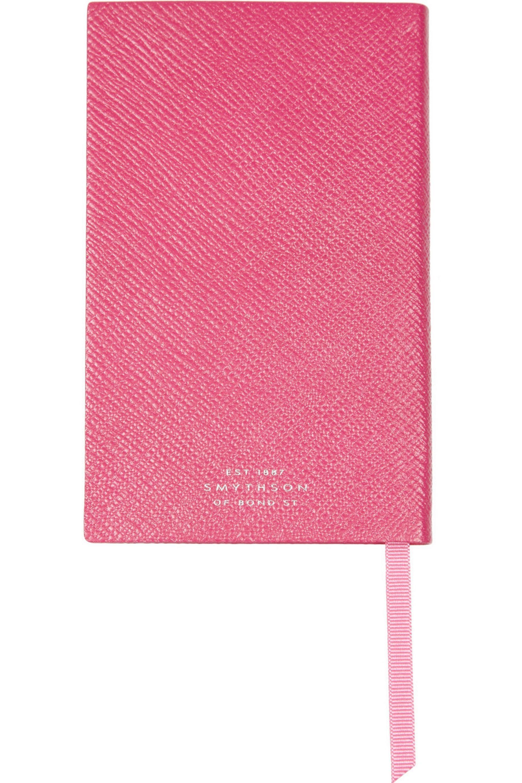 Smythson Jump For Joy textured-leather notebook
