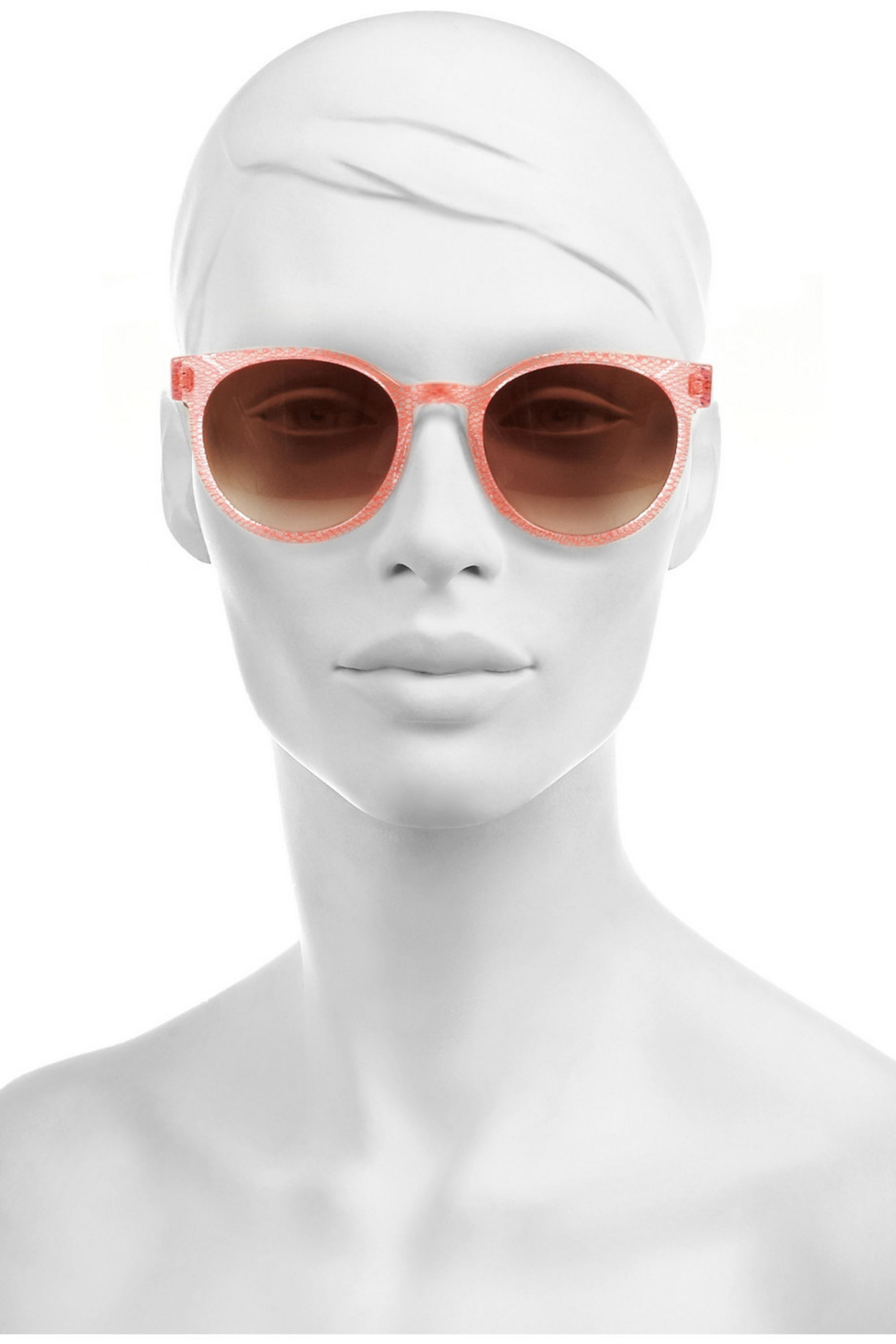 Thierry Lasry Excity round-frame mesh-effect acetate sunglasses