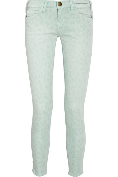 818a7d0b8f19 Current/Elliott. The Stiletto leopard-print cropped low-rise skinny jeans